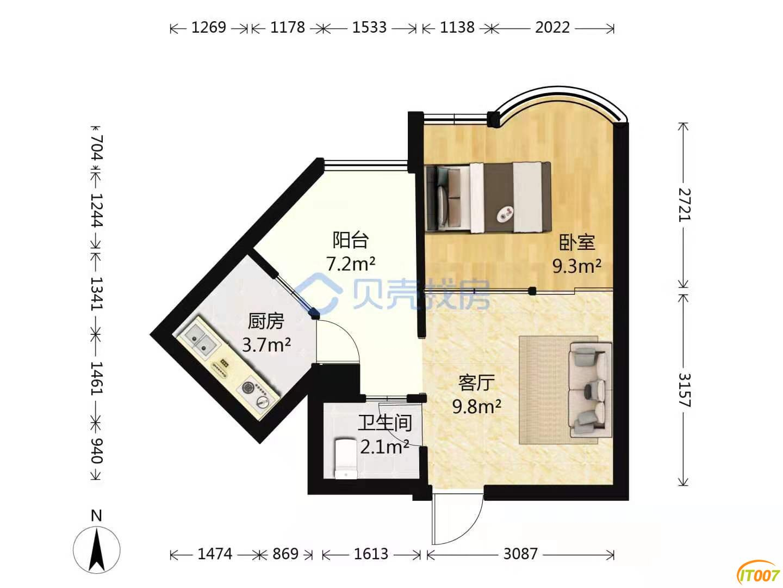 出售自有的龙泉路泰旸新城一室一厅稀缺小户型住房