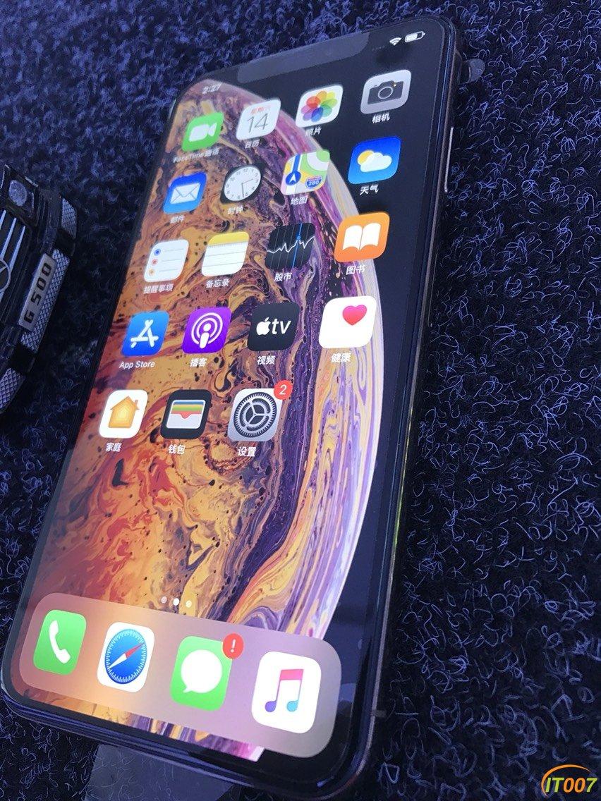 5650!在保90天,iPhoneXsMax/256G国行三网通用原装机腮红金!