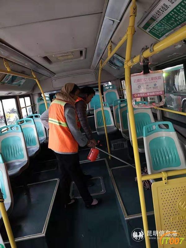 昆明公交车每天消毒三次 强化防范工作适时调整运力