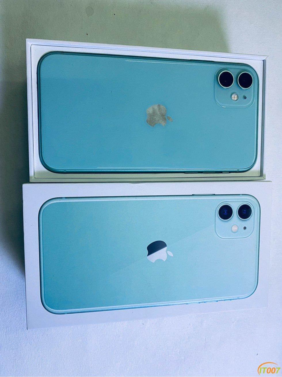 苹果11,绿色,国行,128G,纯原,纯原,全套在,成色9.8新