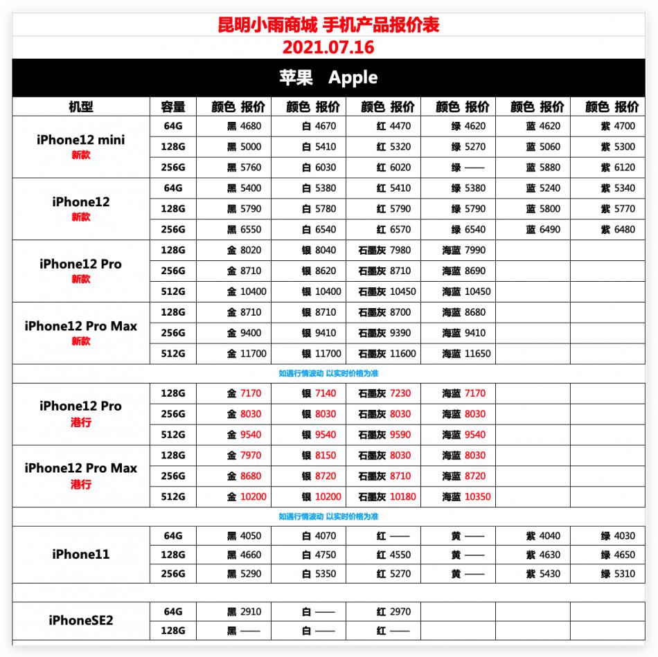 IT007官方店小雨商城7月17日苹果华为荣耀OPPOvivo小米三星手机报价