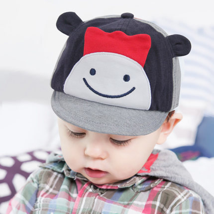 春季可爱宝宝鸭舌帽