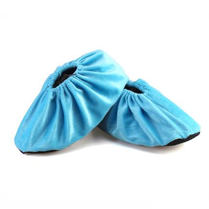 加厚绒布防滑底布鞋套