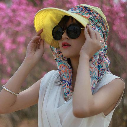 神秘女孩360度防晒帽