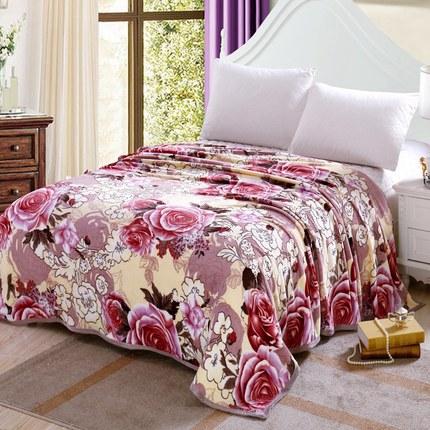 薄款法莱绒毛毯床单