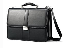 Samsonite新秀丽 Leather Flapover 16寸真皮公文包$77,约合650元(历史低价)
