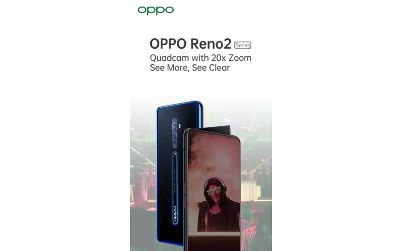 4800万四摄+20倍变焦,OPPO Reno 2系列渲染图公布