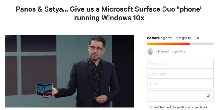 尴尬,Surface Duo受Windows 10x支持请愿未获足够支持