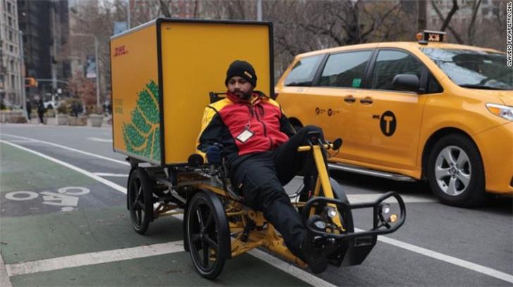 纽约试行用自行车送快递,减少交通拥堵