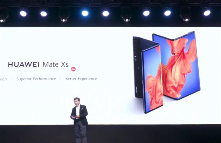 华为 Mate Xs 配置公布:麒麟 990 5G / 4500mAh 电池/ 55W 快充