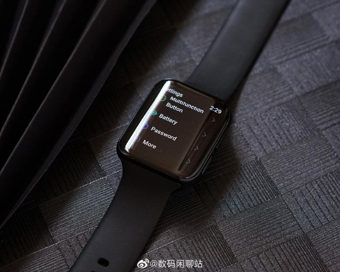 OPPO Watch真机图曝光:双曲面柔性屏,通体黑色