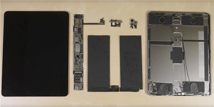 得分 3 分,iFixit 拆解苹果 iPad Pro 2020 :A12Z 加 6GB 内存,激光雷达露真容