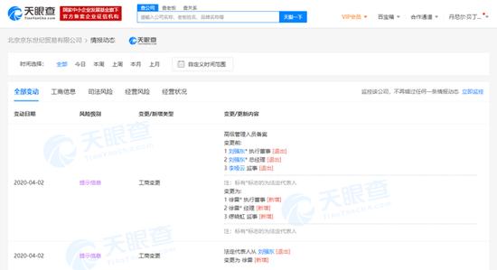 刘强东卸任京东法定代表人等职务,官方首次回应:很正常的管理动作