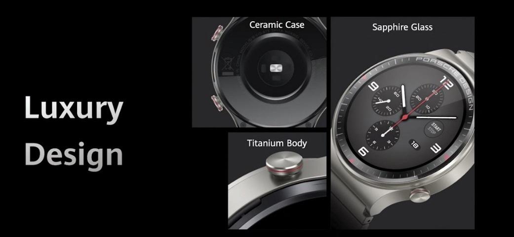 华为 Watch GT2 保时捷设计发布:钛金属 + 蓝宝石玻璃,全天候血氧饱和度监测