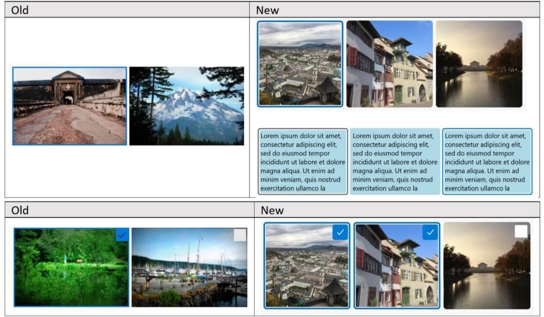 Win10 网格和列表布局新设计曝光:更新为圆角和现代 Fluent 外观