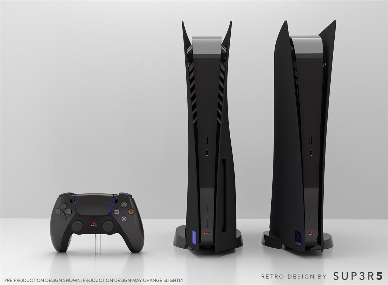 国外厂商发布复古定制版黑色 PS5,售价 649 美元