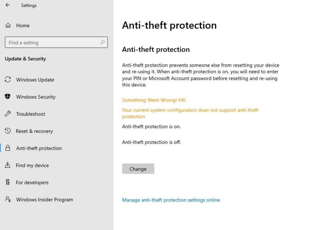 微软 Win10X 将配备防盗保护功能:防止他人重置电脑