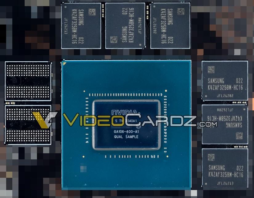 英伟达 GA106 GPU 核心照片曝光:预计为 RTX 3060 或 RTX 3050 Ti