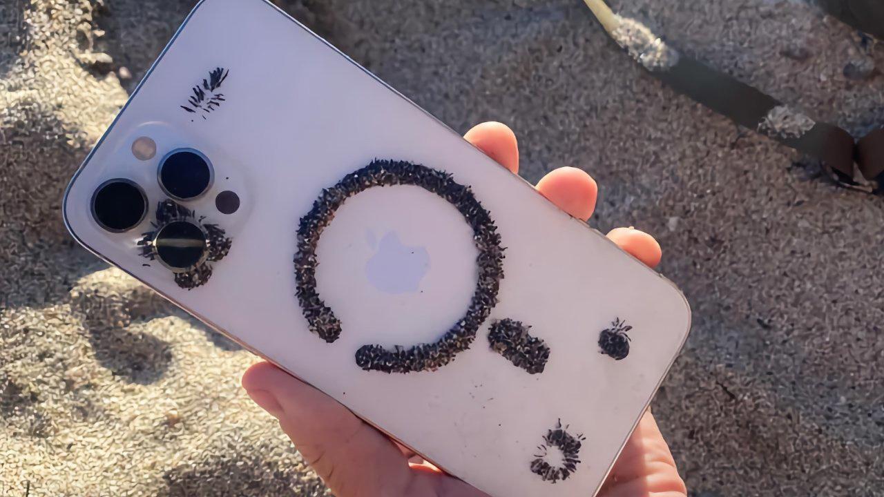 国外用户发现,苹果 iPhone 12 背面能够吸引大量铁砂