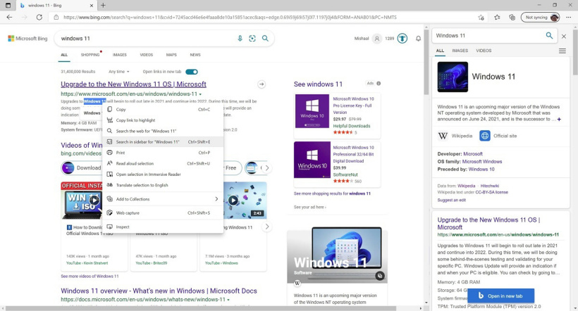 谷歌 Chrome 浏览器将推出类似微软 Edge 的侧边栏搜索功能